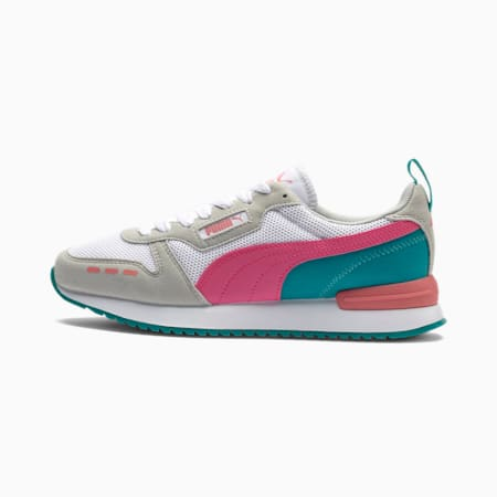 R78 Runner Trainers, White-Glowing Pink-Gray, small