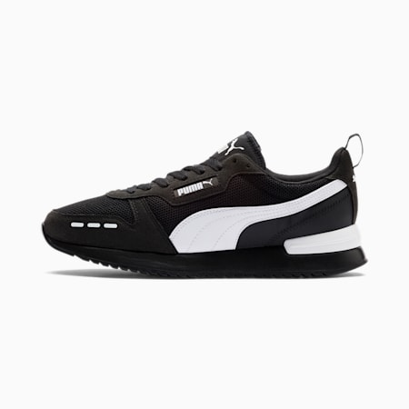 R78 Runner Trainers, Black-White-White, small