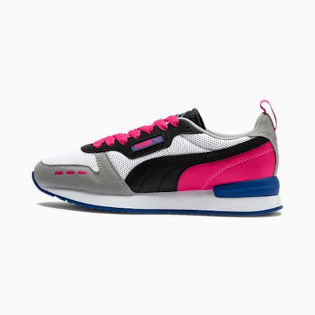 R78 Runner Sneaker, White-Black-Beetroot Purple, small