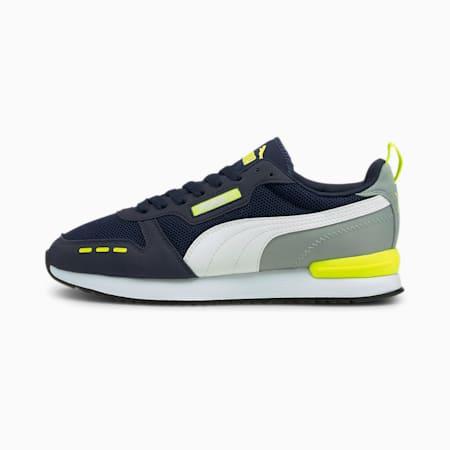 PUMA R78 Sneakers, Peacoat-Quarry-Yellow Alert, small