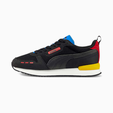 R78 Runner Trainers, Black-Black-High Risk Red, small-GBR