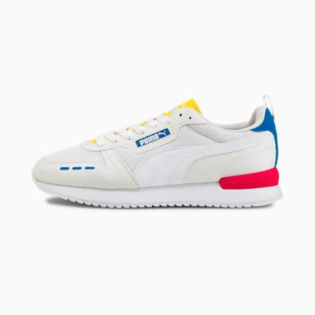 Zapatos deportivos PUMA R78, White-Puma White-Future Blue, pequeño