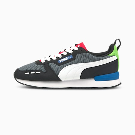 R78 Runner Trainers, CASTLEROCK-Puma White-Puma Black, small