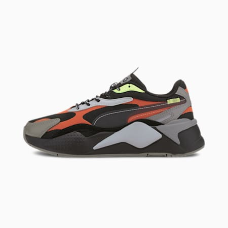 RS-X³ City Attack Youth Trainers, Puma Black-Paprika, small
