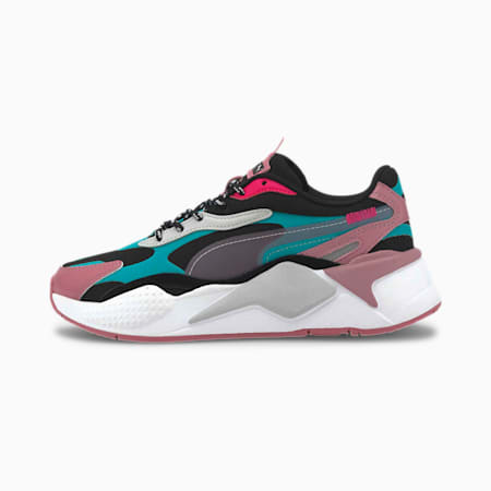 RS-X³ City Attack Youth Trainers, Puma Black-Viridian Green, small