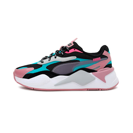RS-X³ City Attack Kids' Sneakers JR, Puma Black-Viridian Green, small-IND