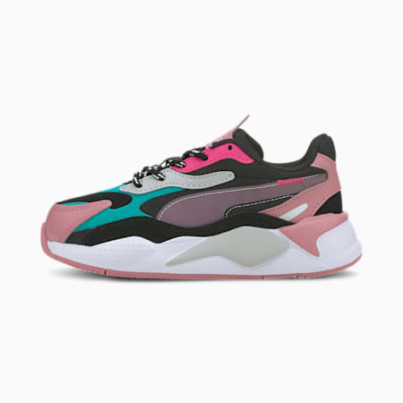 RS-X³ City Attack Kids' Shoes, Puma Black-Viridian Green, small-IND