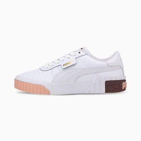 Cali Jugend Sneaker, Puma White-Burgundy, small