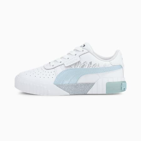 Cali Arctic Kinder Sneaker, Puma White-Omphalodes, small