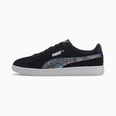 Vikky v2 Multicolour FS SoftFoam+ Kid's Sneakers, Puma Black-Puma Silver-White, small-IND