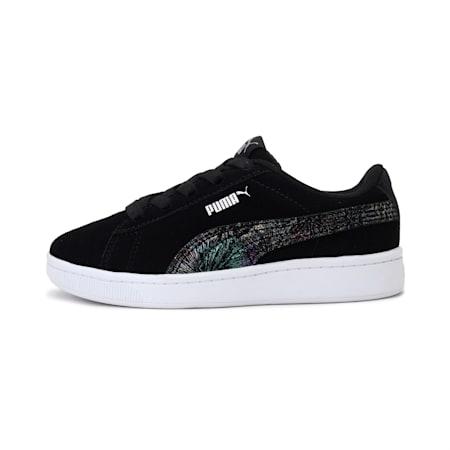 Vikky v2 Multicolour FS AC SoftFoam+ Kids' Shoes, Puma Black-Puma Silver-White, small-IND