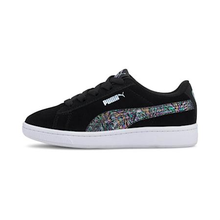 PUMA Vikky v2 Multicolor Little Kids' Shoes, Puma Black-Puma Silver-White, small