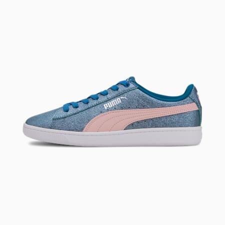 PUMA Vikky v2 Glitz Girls' Sneakers JR, Digi-blue-Peachskin-Silver, small