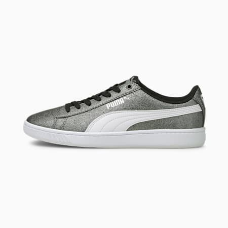 Vikky v2 Glitz 2 Youth Trainers, Silver-White-Puma Black, small