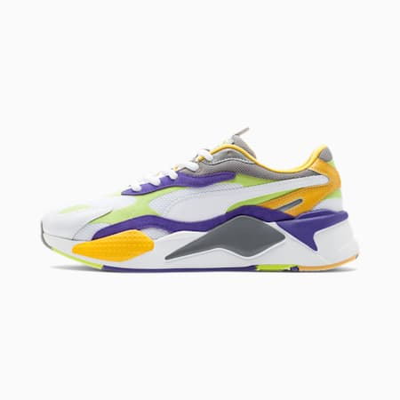 RS-X Level Up Trainers, Puma White-Limepunch, small