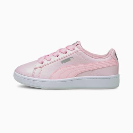 Vikky v2 Glitz 2 AC Kids' Trainers, Pink-Pink-Puma Silver, small