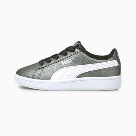 ZapatosPUMA Vikky v2Glitz2para niños pequeños, Puma Silver-Puma White-Puma Black, pequeño
