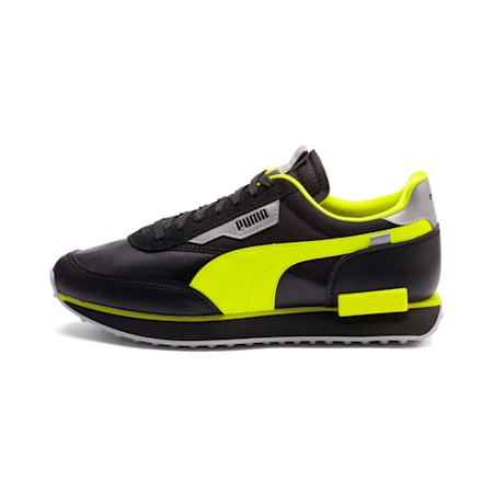 Future Rider Risk Alert Trainers, Puma Black-Safety Yellow, small