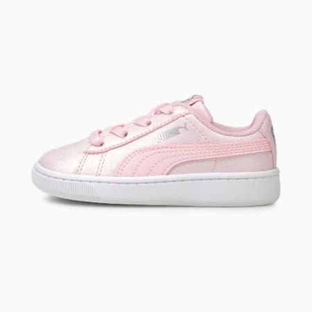 Vikky v2 Glitz 2 AC Babies' Trainers, Pink-Pink-Puma Silver, small