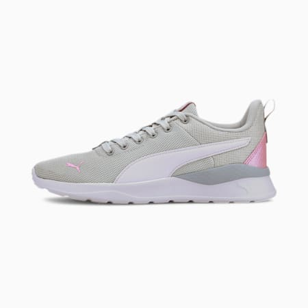Anzarun Lite Metallic Youth Trainers, Gray Violet- White-Pale Pink, small-GBR