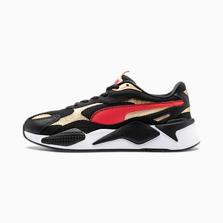 RS-X³ Chinese New Year Men's Sneakers, Black-High Risk Red-TeamGold, small