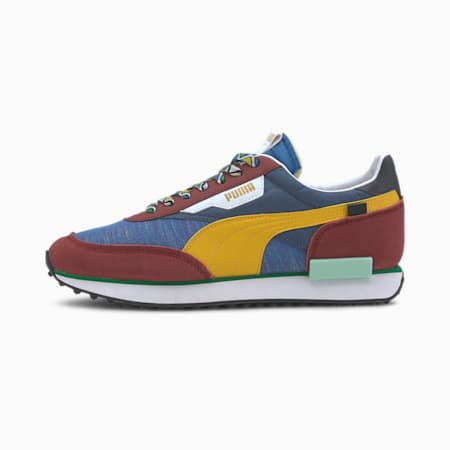 Future Rider MIX Trainers, Burnt Russet-Palace Blue, small