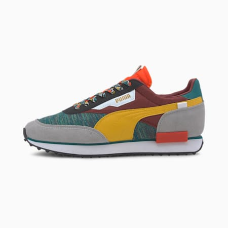 Future Rider MIX Trainers, Teal Green-Burnt Russet, small