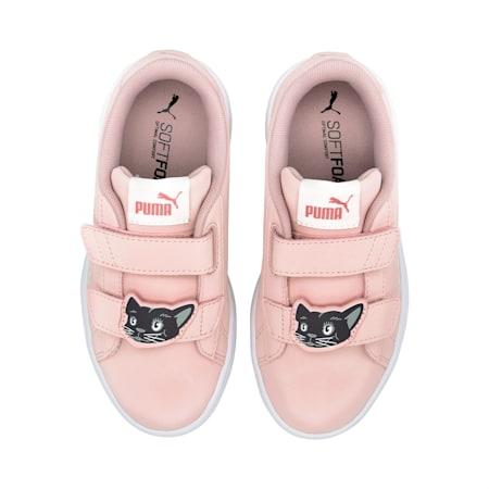Smash v2 Animals Kinder Sneaker, Peachskin-Vaporous Gray, small