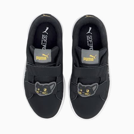 Smash v2 Animals Kinder Sneaker, Puma Black-Ultra Gray, small