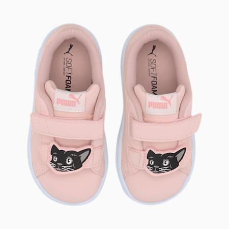 Smash v2 Animals V Baby Sneaker, Peachskin-Vaporous Gray, small