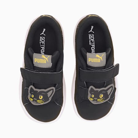Smash v2 Animals V Babies' Trainers, Puma Black-Ultra Gray, small