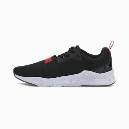 Wired Speckled IMEVA Shoes, Puma Black-High Risk Red, small-IND