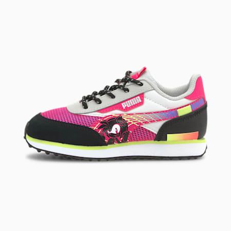 PUMA x SEGA Future Rider Kids' Sneakers, Glowing Pink-Puma Black, small-IND