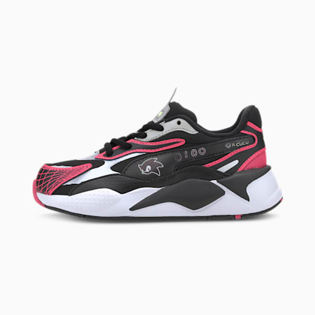 PUMA x SEGA RS-X³ Kids' Trainers, Glowing Pink-Puma Black, small