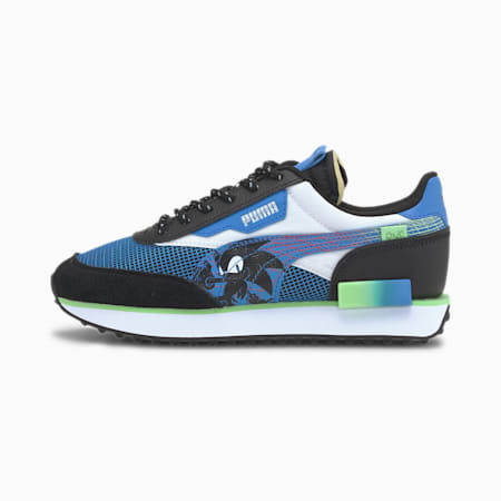 PUMA x SEGA Future Rider CMEVA Kid's Shoes, Palace Blue-Puma Black, small-IND