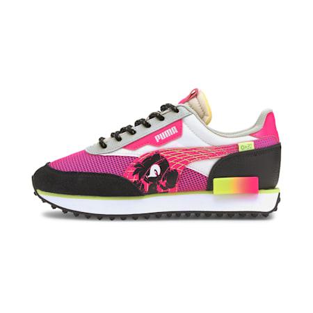 PUMA x SEGA Future Rider CMEVA Kid's Shoes, Glowing Pink-Puma Black, small-IND