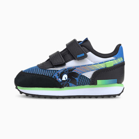 PUMA x SEGA Future Rider Toddler Shoes, Palace Blue-Puma Black, small