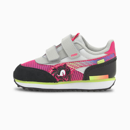 PUMA x SEGA Future Rider Toddler Shoes, Glowing Pink-Puma Black, small