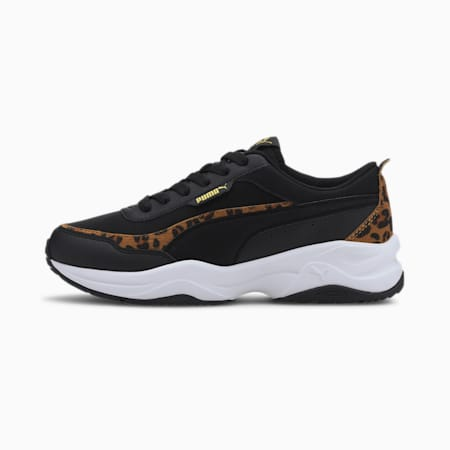 Cilia Mode Leo Damen Sneaker, Puma Black-Puma Team Gold, small