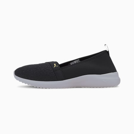 Adelina PACK Women's SoftFoam+ Shoes, Puma Black-Gold-Puma White, small-IND