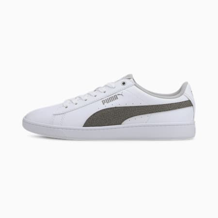 Vikky V2 Metallic SoftFoam+ Women's Shoes, White-Silver-Gray Violet, small-IND