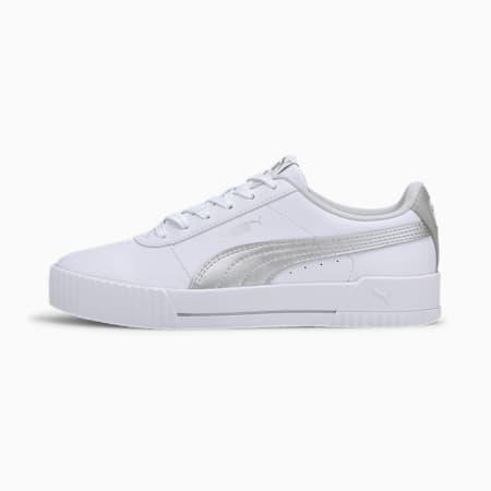 Carina Meta20 Women's Sneakers, Puma White-Puma Silver, small-IND