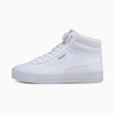 Carina Mid Women's Sneakers, Puma White-Puma White, pequeño