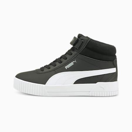 Carina Mid Women's Sneakers, Puma Black-Puma White-Puma Silver, pequeño