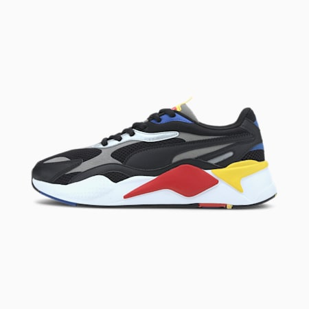 RS-X Millennium Trainers, Black-Hi Risk Red-Lapis Blue, small