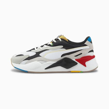 RS-X³ WH Men's Sneakers, Puma White-Puma Black, small