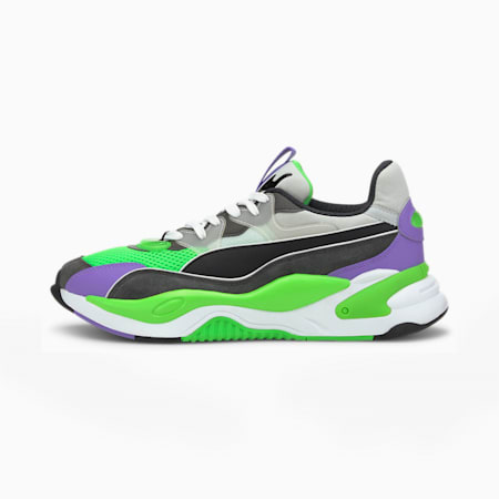 RS-2K Internet Exploring Men's Sneakers, Dark Shadow-Fluo Green, small