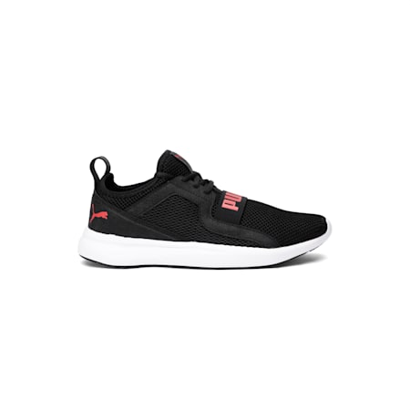 Troy MU Running Shoe, Black-High Risk Red-White, small-IND