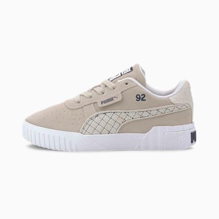 Zapatos SG x PUMA Cali Suede para niños pequeños, Silver Gray-Puma White, pequeño