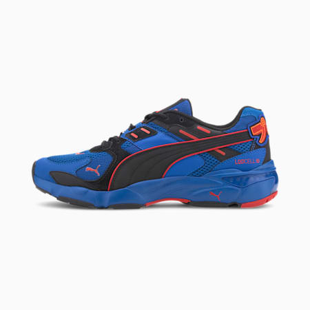 LQDCELL Extol Japanorama Sneakers, Lapis Blue-High Risk Red, small